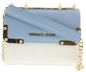 Versace EE1VRBBA4 White/ Powder Blue Shoulder Bag