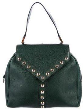 Saint Laurent Studded Handle Bag - GREEN - STYLE