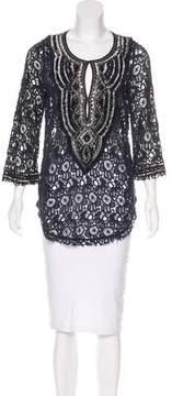 Calypso Embellished Lace Tunic