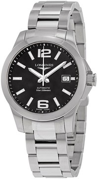 Longines Conquest Automatic Black Dial Men's Watch