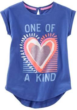 Osh Kosh Oshkosh Bgosh Girls 4-12 One Of A Kinf Heart Graphic Tunic Top