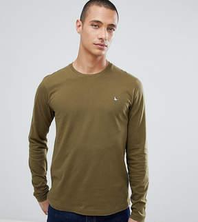 Jack Wills Long Sleeve Logo T-Shirt In Pine