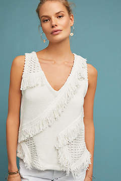 Anthropologie Pacific Fringed Tank