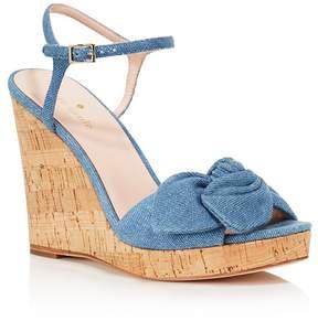 Kate Spade Women's Janae Chambray Platform Wedge Sandals