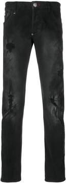 Philipp Plein stitched straight-leg jeans