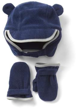 Gap Pro Fleece hat and mitten set