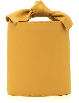 Ulla Johnson Sophie Mini Bow-Detailed Leather Bucket Bag