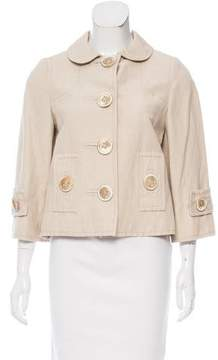 Andrew Gn Casual Linen-Blend Jacket