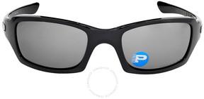 Oakley Fives Squared Sunglasses - Polished Black/Black Polarized