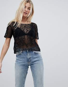Brave Soul Kingsley Crochet T-Shirt