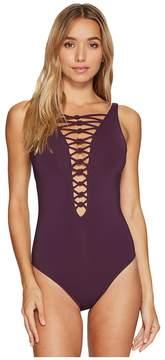 Bleu Rod Beattie Oh So Knotty Lace Down OTS Mio Women's Swimwear