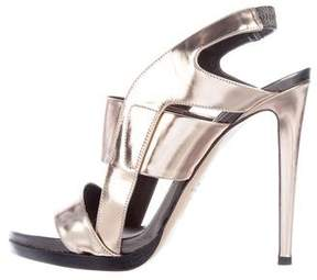 Reed Krakoff Fighter Metallic Sandals