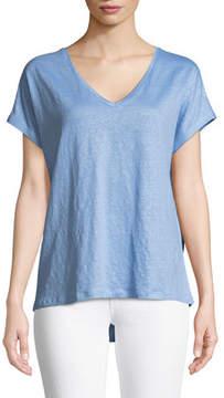 Neiman Marcus Majestic Paris for Linen Short-Sleeve T-Shirt