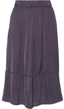 Enza Costa Pleated Satin Mini Skirt