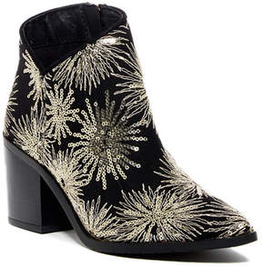 Kenneth Cole Reaction Cue the Music Sequin Embroidered Block Heel Bootie