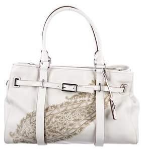 Tumi Leather Tooled Shoulder BagLeather Tooled Shoulder Bag