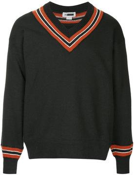 H Beauty&Youth striped v-neck sweater