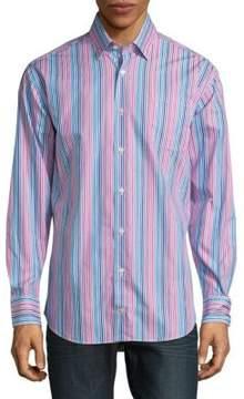 Robert Talbott Anders Casual Striped Cotton Sportshirt