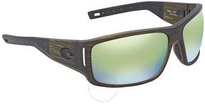 Costa del Mar Cape Green Mirror Rectangular Sunglasses CAP 189 OGMP