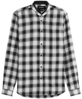 The Kooples Printed Cotton Shirt with Leather