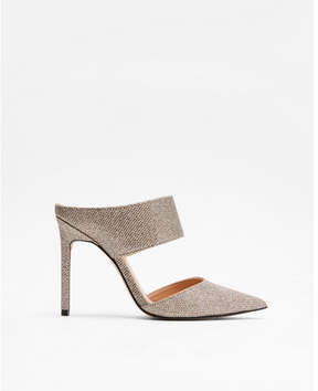 Express sparkle heeled mules