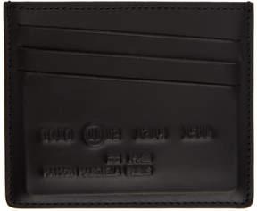 Maison Margiela Black Inside Out Card Holder