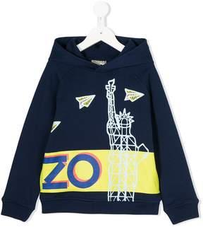 Kenzo New York print hoodie