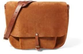 Ralph Lauren Roughout Leather Messenger Bag Light Java 002 One Size