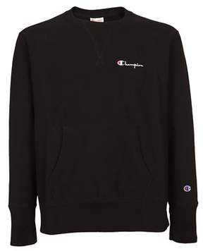 Champion Men's Black Cotton Sweatshirt.