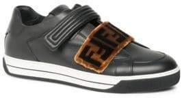 Fendi Zucca Grip-Tape Strap Sneakers