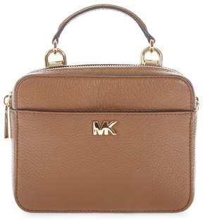 MICHAEL Michael Kors Small Camel Mott Shoulder Strap In Leather