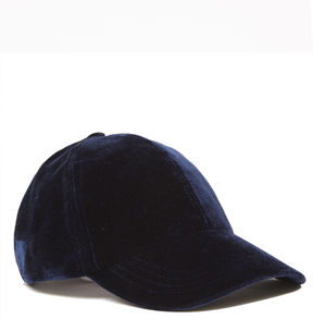 Nine West Velvet Baseball Cap