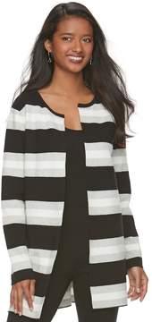 Elle Women's ElleTM Striped Long Cardigan