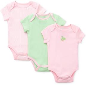 Little Me Baby Girls' 3-Pack Frog Bodysuits