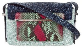 Mary Katrantzou Snakeskin-Trimmed MVK Shoulder Bag