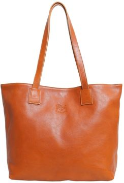 Distressed Leather Shopper Bag