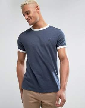 Jack Wills Baildon Ringer T-Shirt In Navy