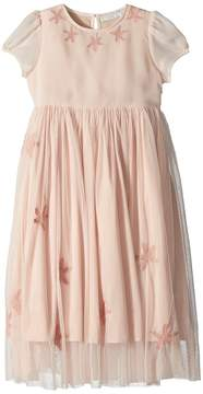 Stella McCartney Maria Cap Sleeve Tulle Dress w/ Star Patches Girl's Dress