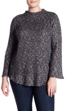 Planet Gold Brushed Bell Sleeve Sweater (Plus Size)