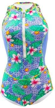 Bananamoon Banana Moon 1 Piece Blue Swimsuit Teens Leighton Naquru.