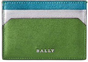 Bally Blue & Green Leather Tigi Card Case