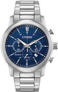 Citizen Men's Chronograph Quartz Stainless Steel Bracelet Watch 42mm, a Macy's Exclusive Style