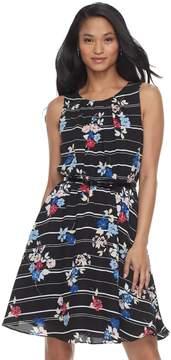Elle Women's Print Fit & Flare Dress