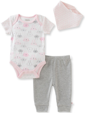 Absorba Girls' 3Pc Bodysuit Set