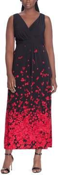 Chaps Plus Size Floral Maxi Dress