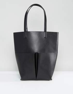 Glamorous Pocket Tote Bag in Black