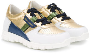 Dolce & Gabbana Kids perforated sneakers