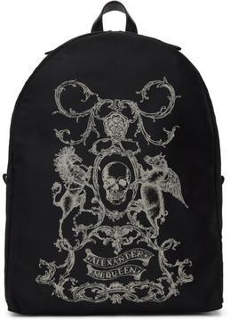 Alexander McQueen Black Coat of Arms Backpack