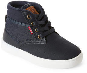 Levi's Toddler/Kids Boys) Navy Sycamore Casual High Top Sneakers