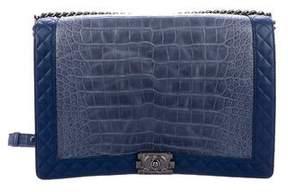 Chanel Large Alligator Boy Bag